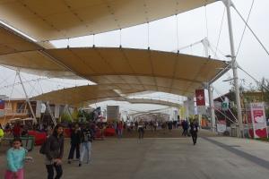 Der zentrale Platz der Ausstellung
