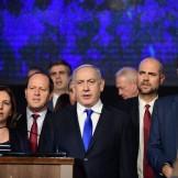 Israeli prime minister Benjamin Netanyahu speaks at a Likud party rally in Tel Aviv, on November 17, 2019. Photo by Tomer Neuberg/FLASH90 *** Local Caption *** ìéëåã ëðñ øàù äîîùìä áðéîéï ðúðéäå áéáé