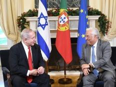 PM Netanyahu with Portuguese PM Antonio Costa in Lisbon
