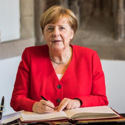 Besuch Bundeskanzlerin Angela Merkel im Rathaus Köln